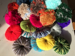 pom pom rug DIY an easy craft for warm feet