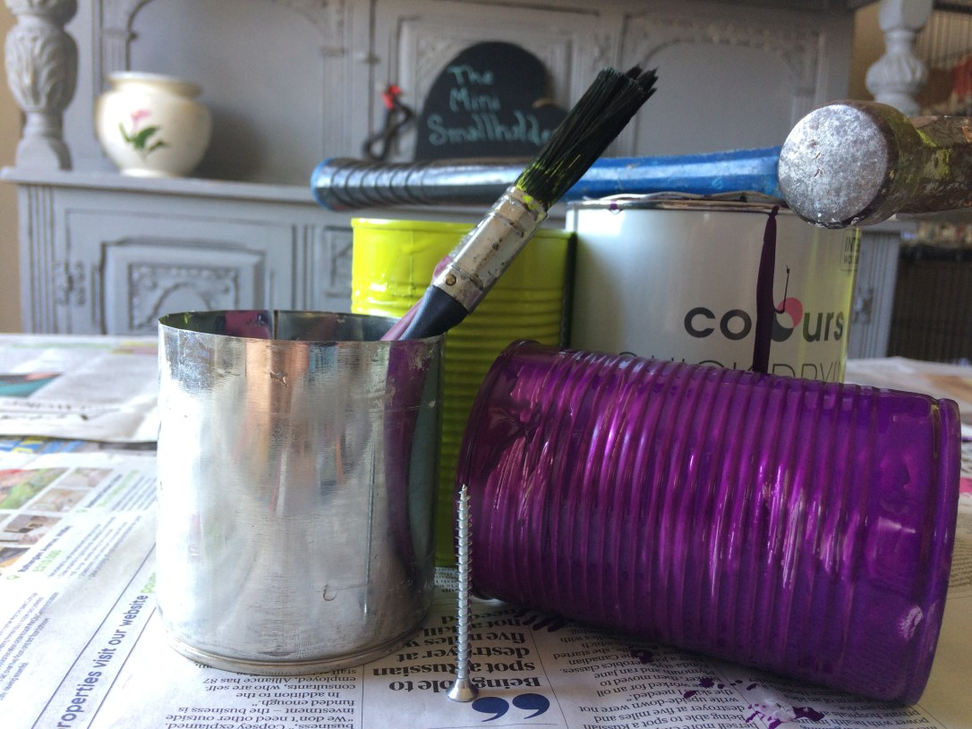tin can upcycled project