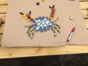 bottle tops to crab craft?