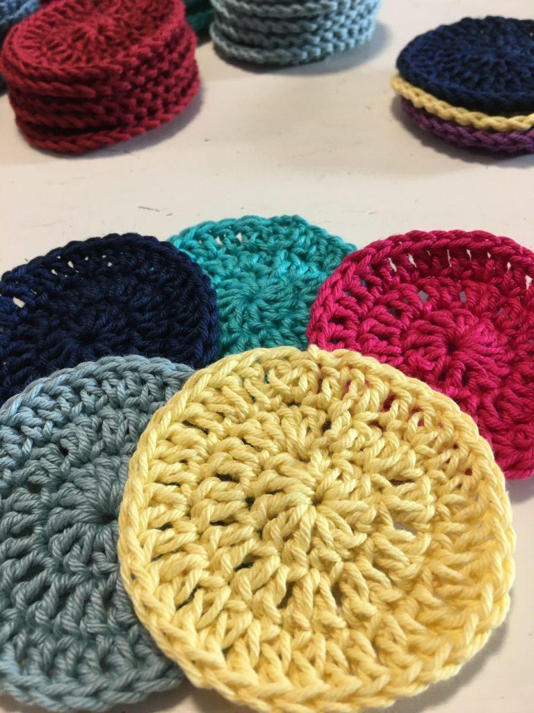 crochet face scrubbies pattern