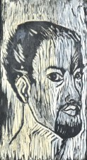 Self Portrait 1963 Woodcut