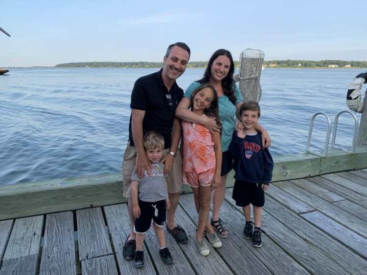 A family in Greenport, Long Island
