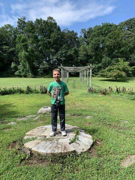 a boy at Wawapek Preserve