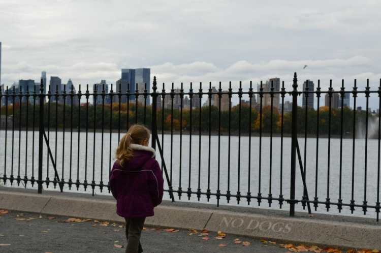The Mint Chip Mama - A little girl at the reservoir in anhattan