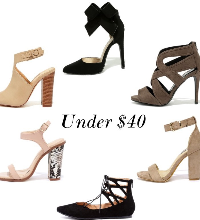 Shoes & Clutches under $40