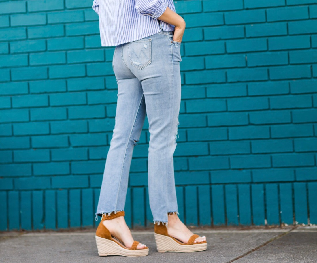 flaunt shop danville ca, mother denim, raye espadrilles, rag and bone top