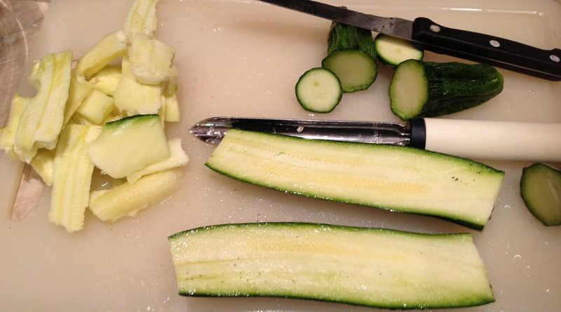 come pulire le zucchine con lo svuotazucchine