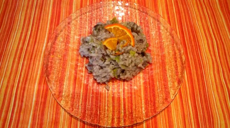 risotto con radicchio, porri al profumo di arancia - nadia coppola - fatinasweet - the minutes fly - web magazine