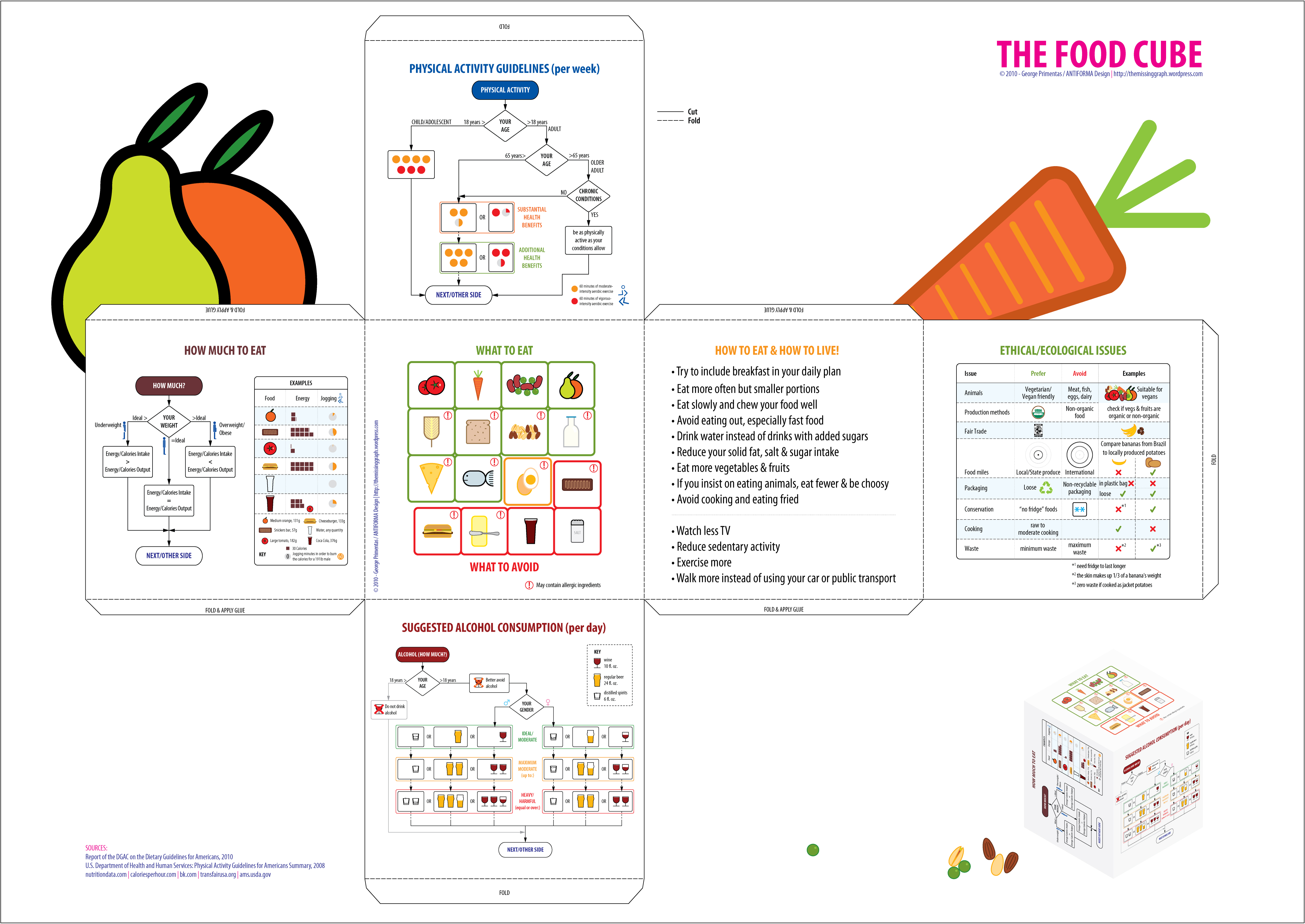 The Food Cube As The New Food Pyramid