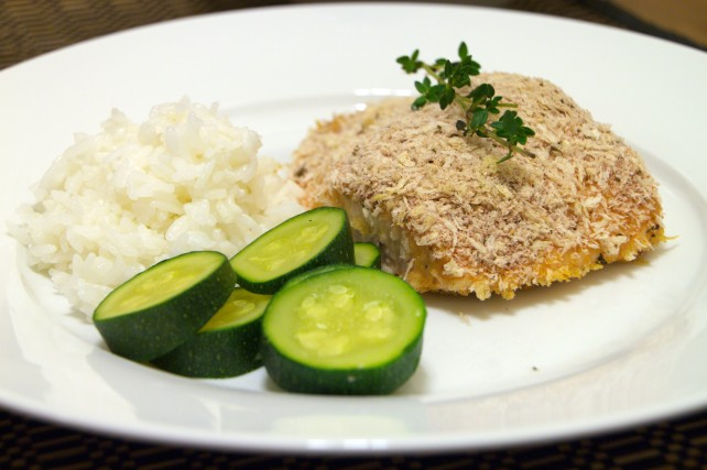 Panko-Crusted Salmon with Honey-Mustard Glaze 1