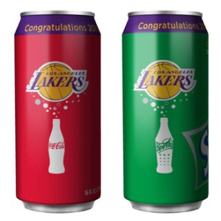 Lakers Soda Cans