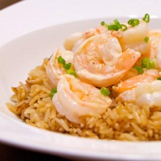 Creamy Lemon Shrimp with Rice