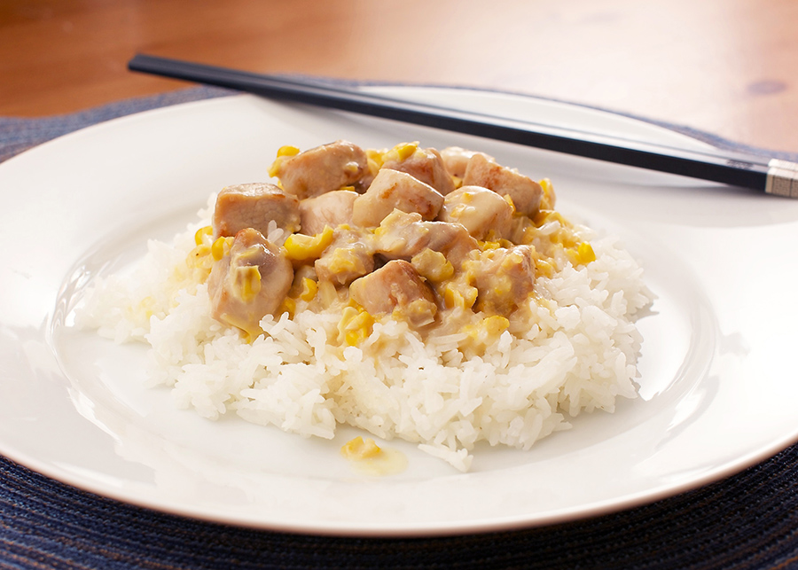 Creamed Corn With Pork and Rice #hongkongrecipe #chachaanteng #hongkongstylecafe #creamedcorn #corn #pork #easyrecipe #rice #dinner #dinnerrecipe #chineserecipe | The Missing Lokness