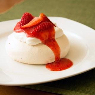 Individual Strawberry Pavlova