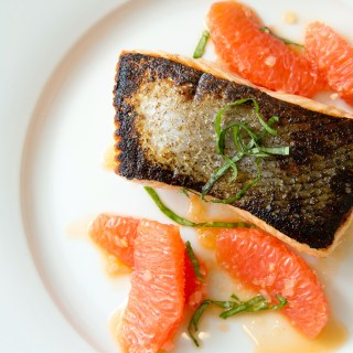 Seared Salmon with Shallot-Grapefruit Sauce