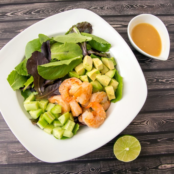 Shrimp Salad with Garlic Miso Dressing 2 | The Missing Lokness