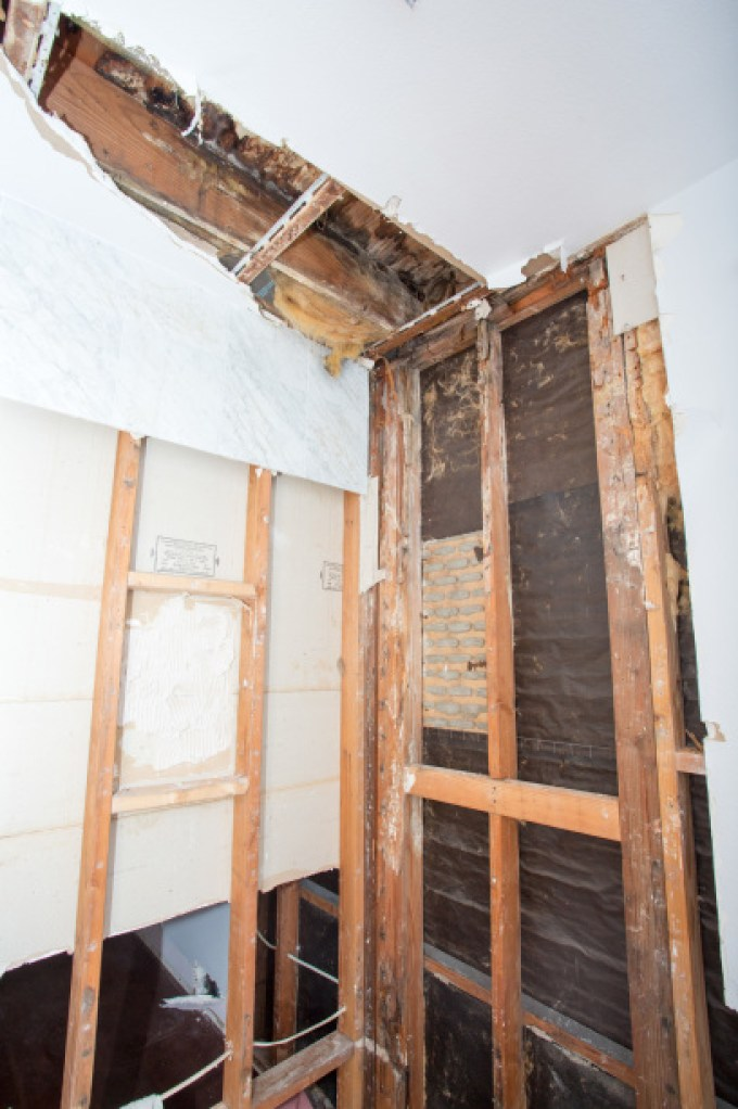 Bathroom Ceiling Water Damage & Mold