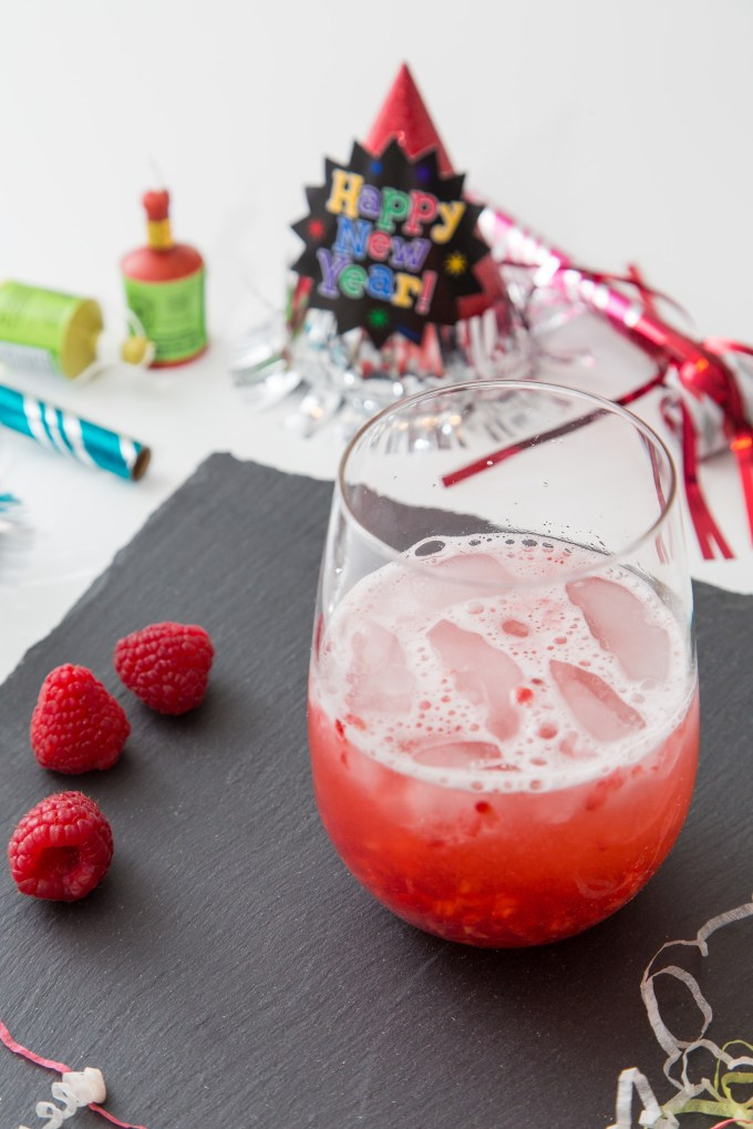 Raspberry Prosecco Cocktail 1| The Missing Lokness