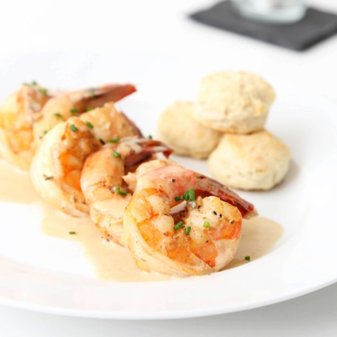 New Orleans BBQ Shrimps with Mini Rosemary Biscuits 3   The Missing Lokness