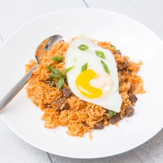 Kimchi Fried Rice with Beef