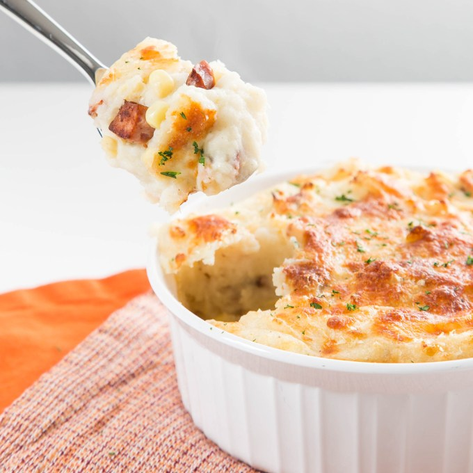 Smoked Sausage and Corn Loaded Mashed Potatoes| The Missing Lokness