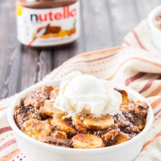 Banana Nutella Bread Pudding