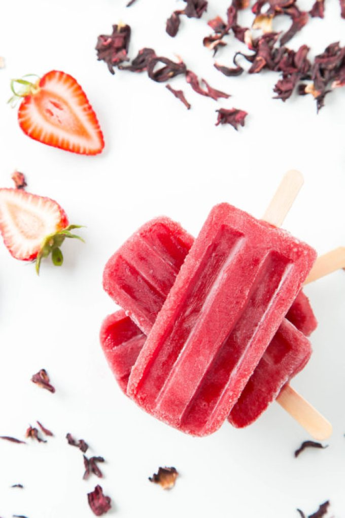 Strawberry Hibiscus Ice Pops 1| The Missing Lokness