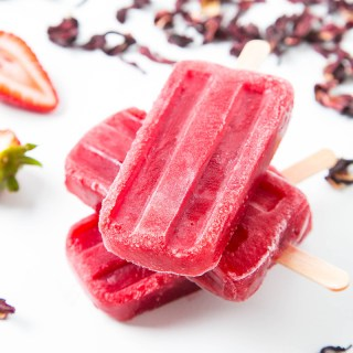 Strawberry Hibiscus Ice Pops