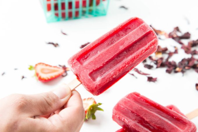 Strawberry Hibiscus Ice Pops 3| The Missing Lokness