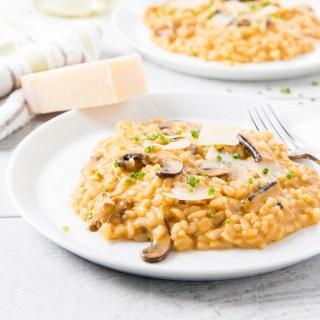 Black Garlic and Mushroom Risotto