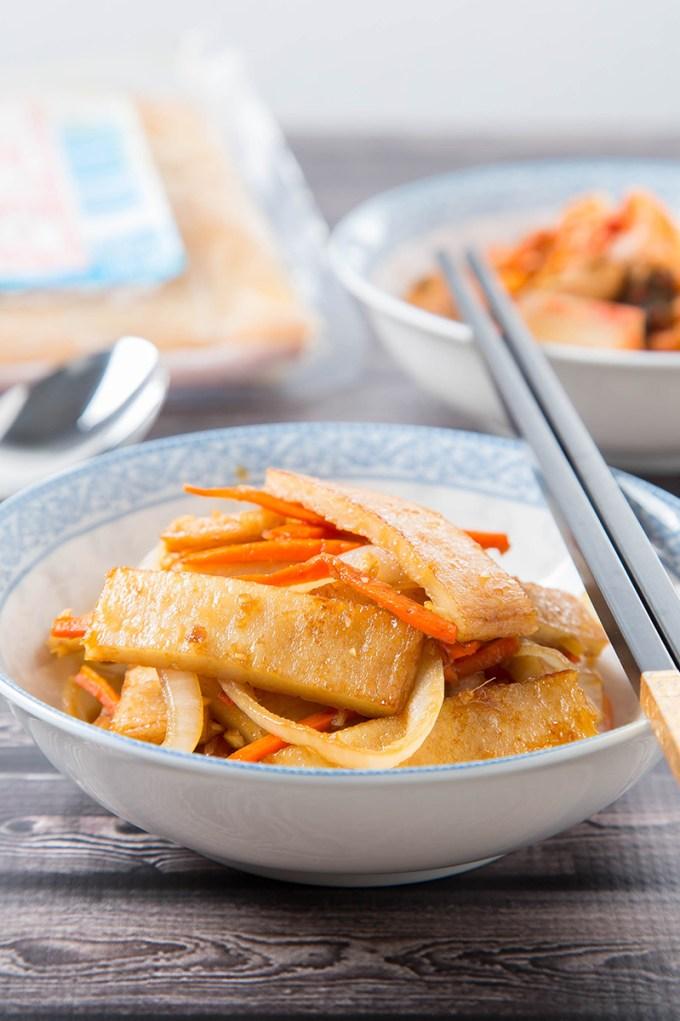 Eomuk Bokkeum (Korean Stir-Fried Fish Cake) 3| The Missing Lokness
