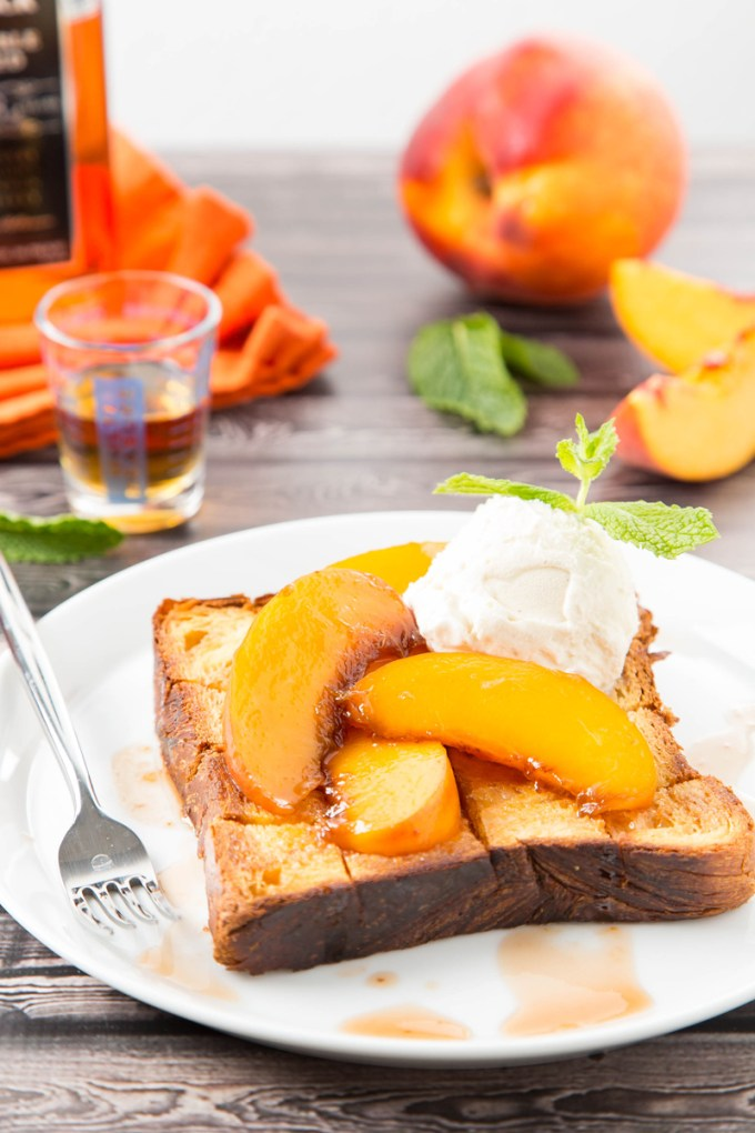 Bourbon-Glazed Peach Brick Toast 1| The Missing Lokness