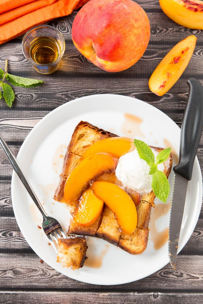 Bourbon-Glazed Peach Brick Toast 4| The Missing Lokness