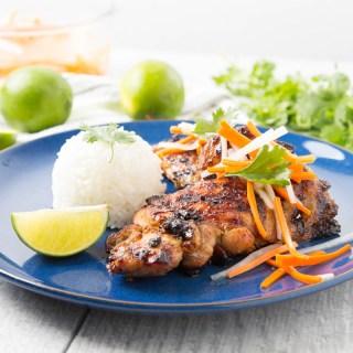 Vietnamese Grilled Lemongrass Chicken Thighs