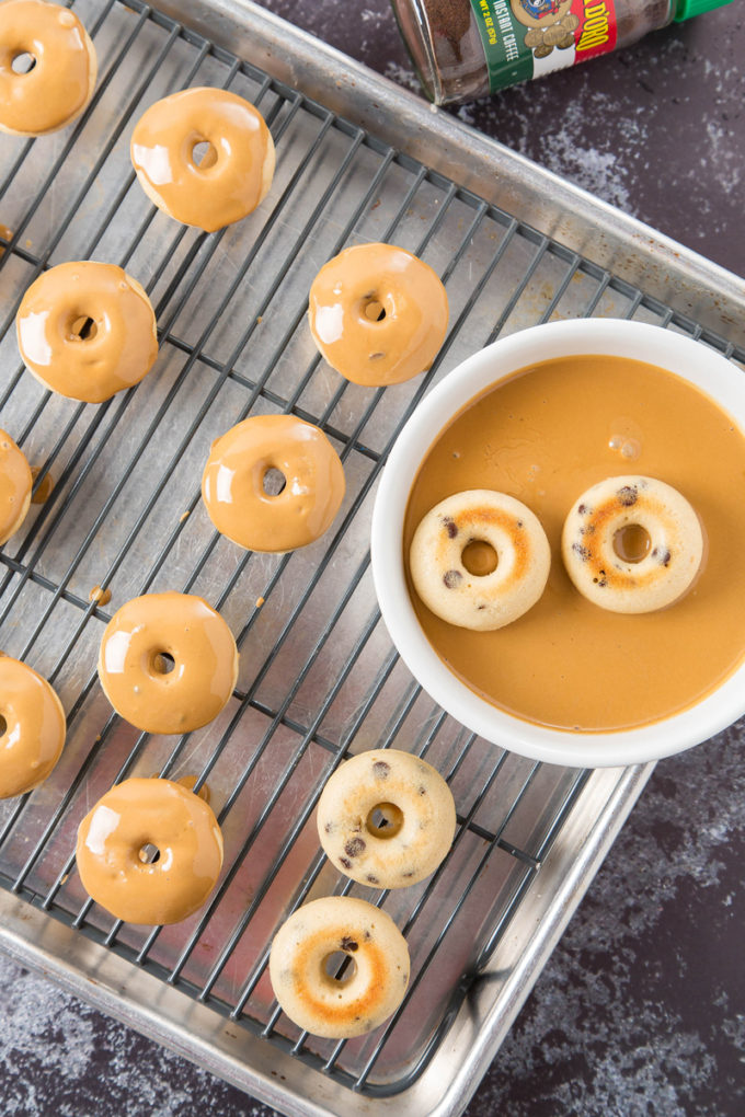 Coffee Glazed Baked Chocolate Chip Donuts 1| The Missing Lokness