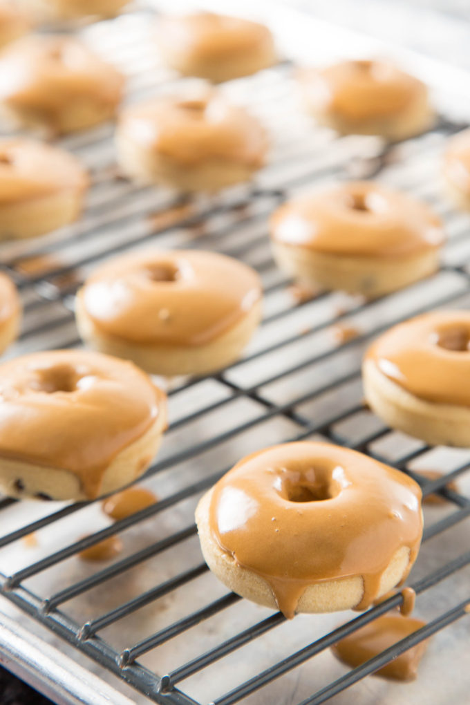 Coffee Glazed Baked Chocolate Chip Donuts 2| The Missing Lokness