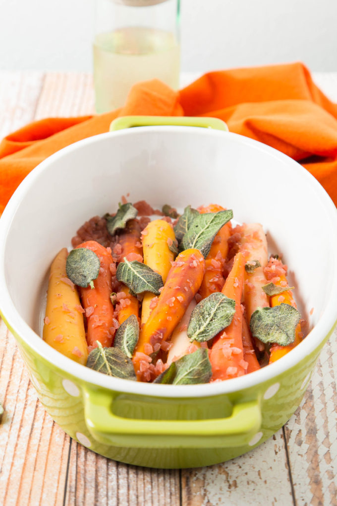 Wine-Braised Rainbow Carrots with Sage 3 | The Missing Lokness