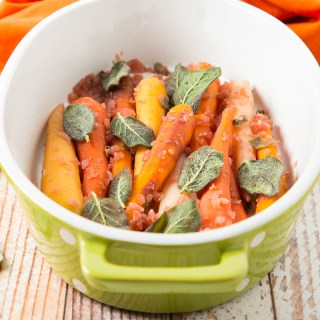 Wine-Braised Rainbow Carrots with Sage