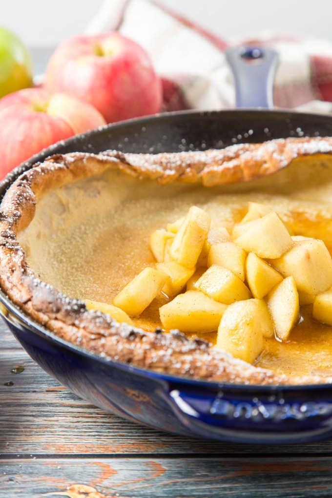 Spiced Dutch Baby Pancake with Apple-Maple Topping 3| The Missing Lokness