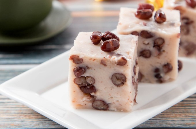 Coconut Red Bean Pudding