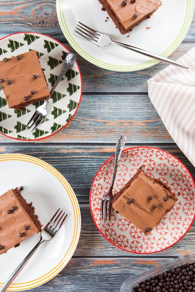 Chocolatey Chocolate Sheet Cake #chocolate #cake #dessert | The Missing Lokness