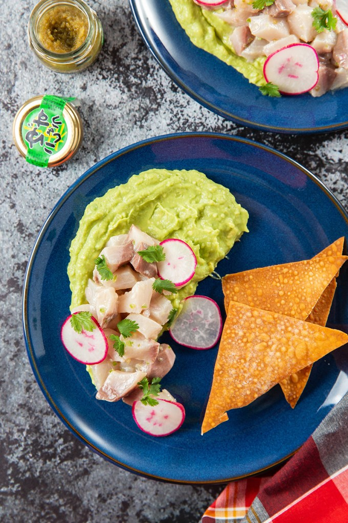 Yellowtail Crudo with Avocado and Wonton Chips #crudo #fish #yellowtail #chips #appetizer #summerrecipe | The Missing Lokness