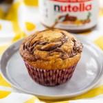 Nutella Banana Swirl Muffins #nutella #bananamuffin #muffin #baking #freezerfriendly #breakfast #breakfastrecipe | The Missing Lokness