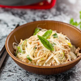 Pork and Thai Basil Cellophane Noodles #noodles #noodlerecipe #stirfry #thaibasil #pork #stirfrynoodles #cellophanenoodles #dinner #dinnerrecipe | The Missing Lokness