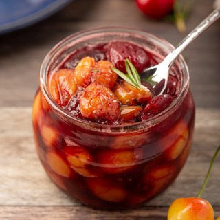 Rosemary Cherry Compote #cherry #rosemary #balsamicvinegar #condiment #ediblegift #appetizer #dessert #dessertrecipe | The Missing Lokness