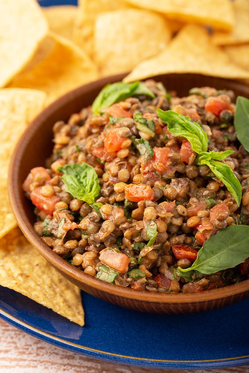 Easy Basil Lentil Dip #appetizer #dip #easyrecipe #5minuterecipe #lentil #basil #traderjoes #appetizerrecipe #vegetarian #vegan #healthy | The Missing Lokness