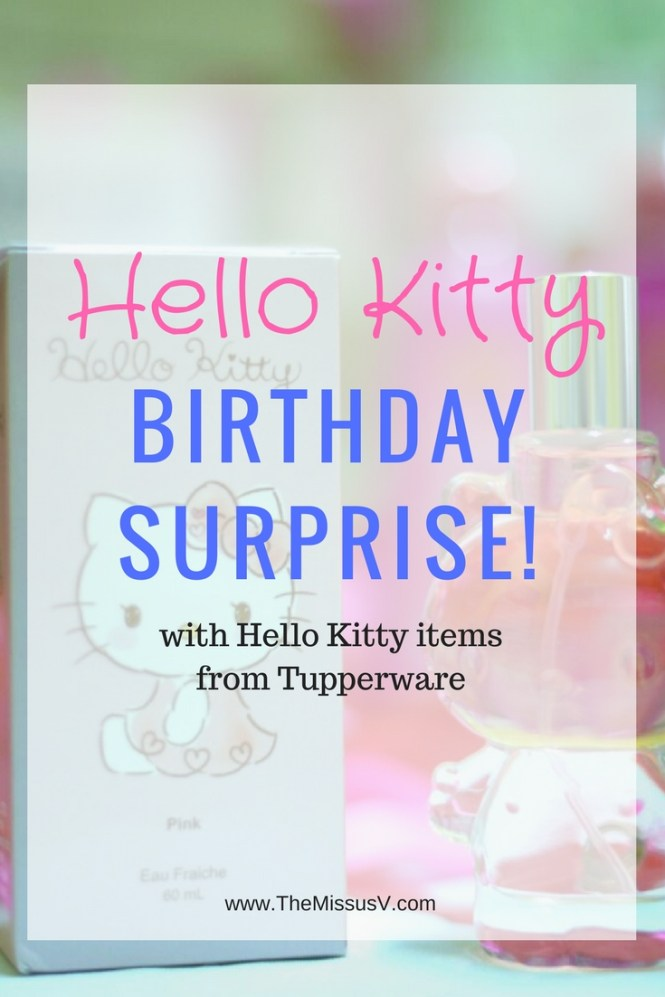 A Hello Kitty Surprise! (Hello Kitty Items from Tupperware)