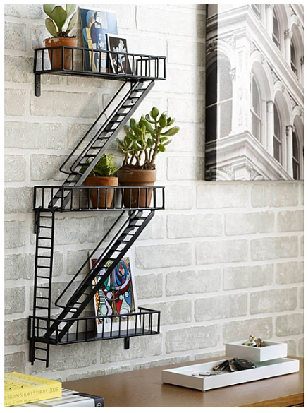 Unique Pieces for Small-Space Decorating - Fire Escape Shelf