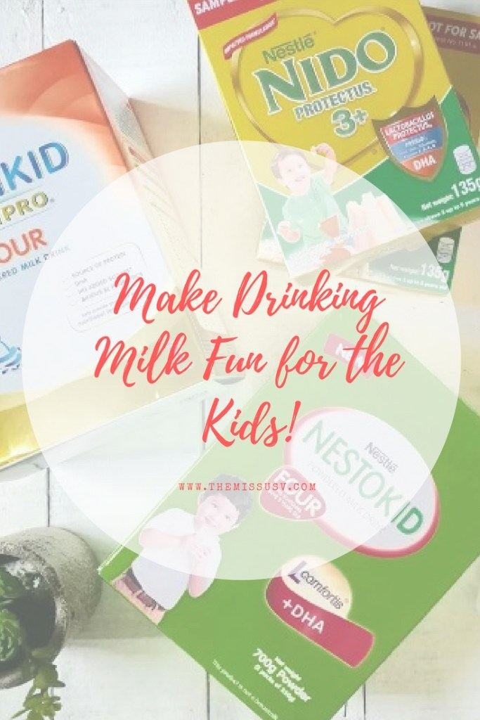 Make Drinking Milk Fun for the Kids - The Missus V