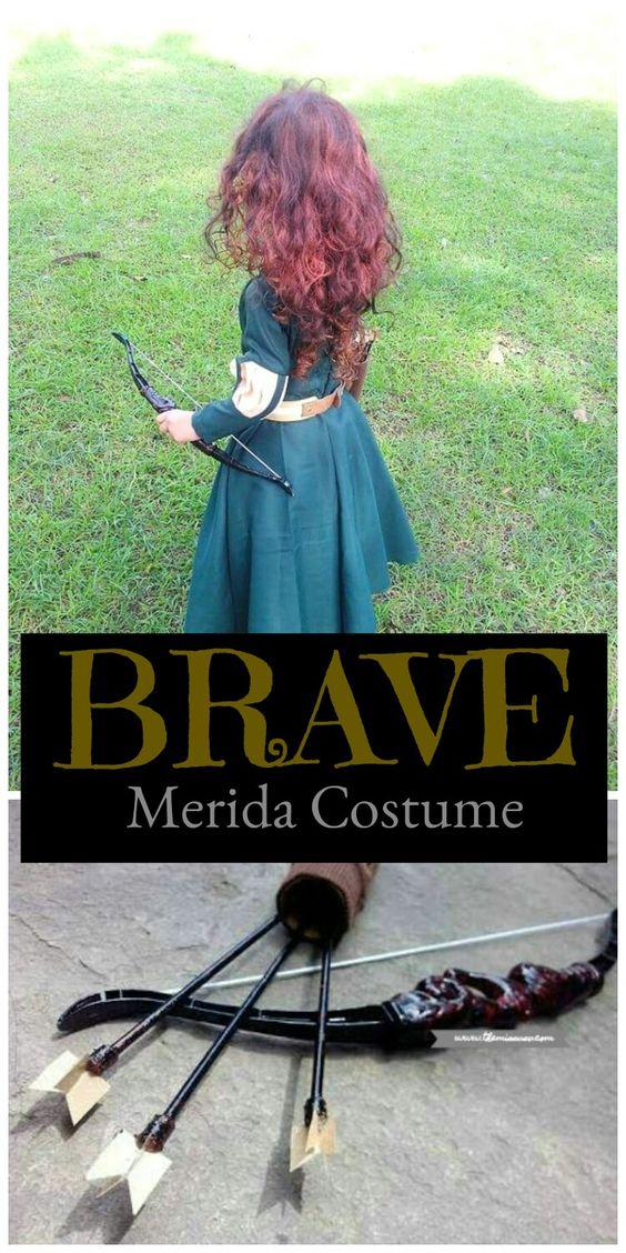 Brave Merida Costume for Kids - Character Costume for Kids,  Halloween Costume for Kids, Merida Brave Costume